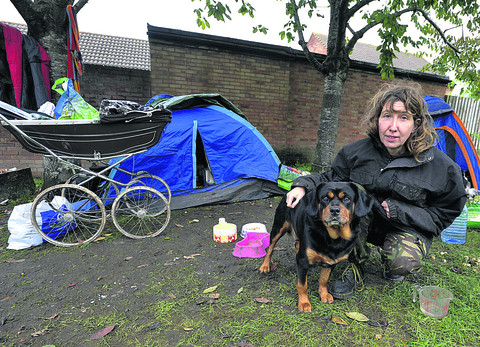 Mercedes Creed has been living out of two small tents in Westbury for the past two  sc 1 st  Wiltshire Times & Westbury womanu0027s plea after depression reduces her to life in a ...