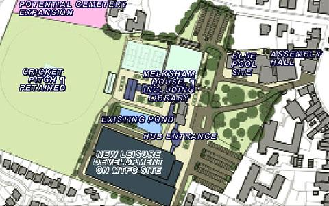 A plan of the proposed Melksham Campus