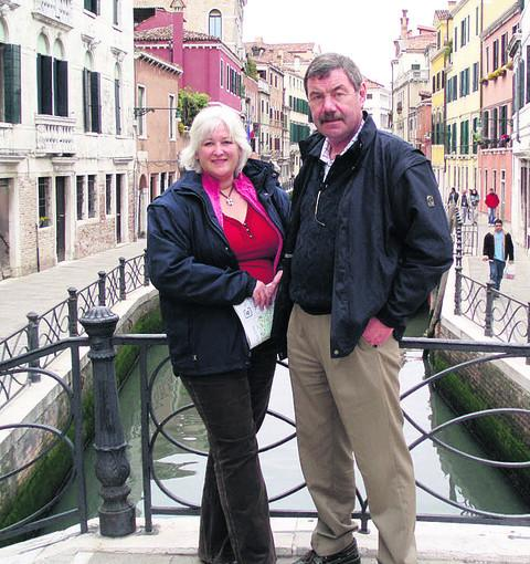 The late Paul Coventry and fiancee Belinda Wells