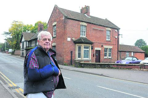 Councillor Keith Miller at Westbury's historic Oak public house