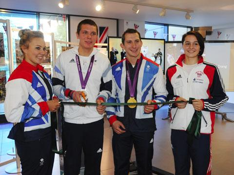 Olympic athletes helped officially open the new County Hall building in Trowbridge today