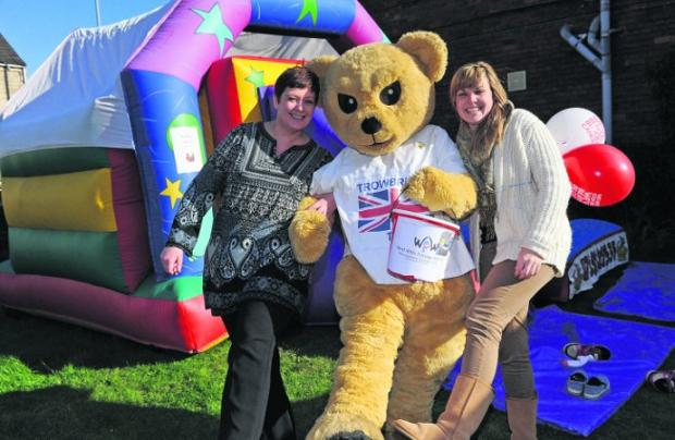 Lucy Oakley, Stacey Harper and Ellen Campbell at the Family Fun day in aid of leukaemia and lymphoma