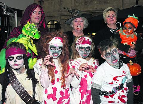 Youngsters get into the spirit of the occasion at The Shires
