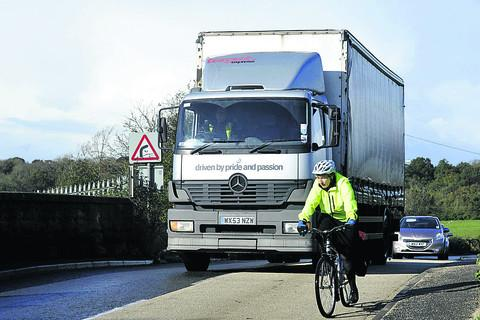 Heavy lorries travelling through Staverton will not be made worse by a Bath traffic ban, much to the relief of local residents