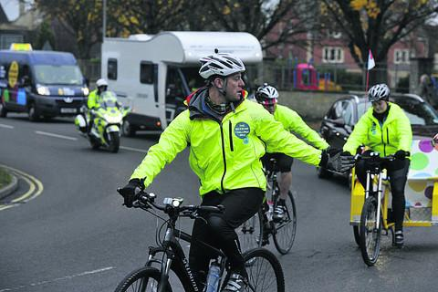 Matt Baker leads from the front as the One Show team head out of Trowbridge