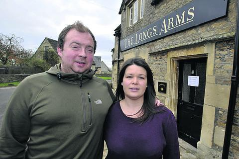 Wiltshire Times: Liz and Rob Allcock were finishing a flood clean-up