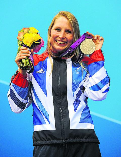 Paralympian Steph Millward does the honours this year