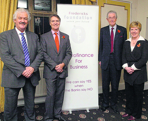 From left, Paul Barry-Walsh, Charles Dodwell, John Bush and Rosemary Macdonald, of the Fredericks Foundation