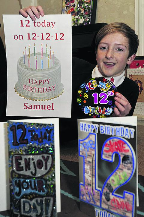 Samuel Holloway celebrated his 12th birthday today