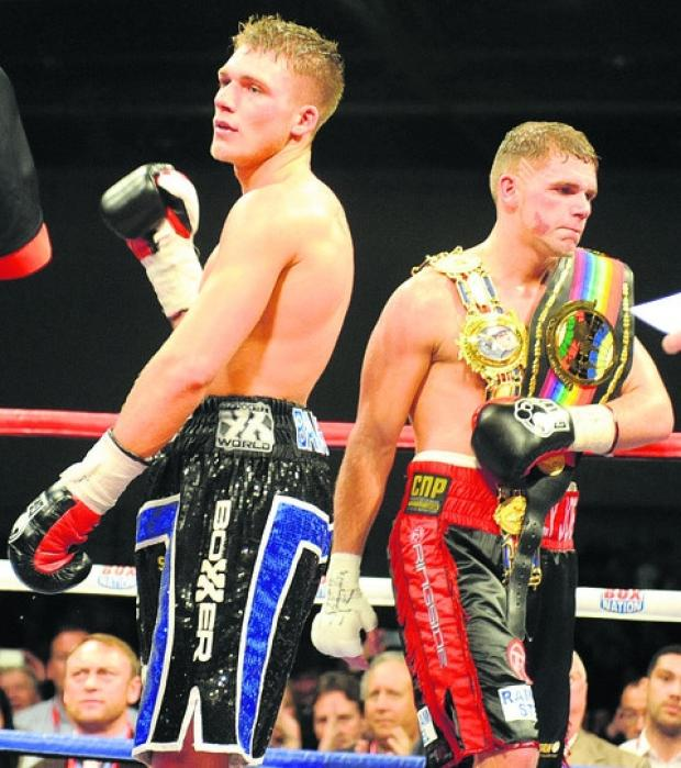 Nick Blackwell, left, could be on his way to a third crack at the British middleweight title