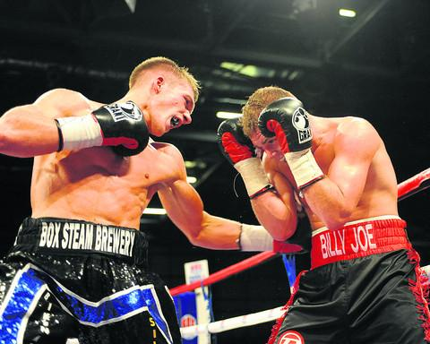 Nick Blackwell (left) will return to action in March