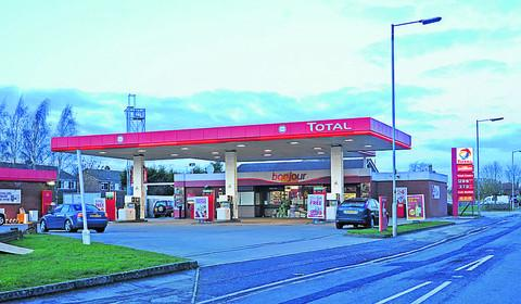 The Total garage on the Semington Road, Melksham