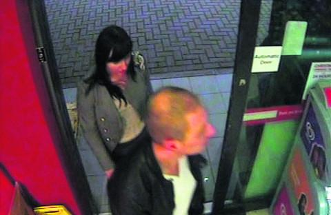 The couple enter the Total garage in Semington Road, Melksham