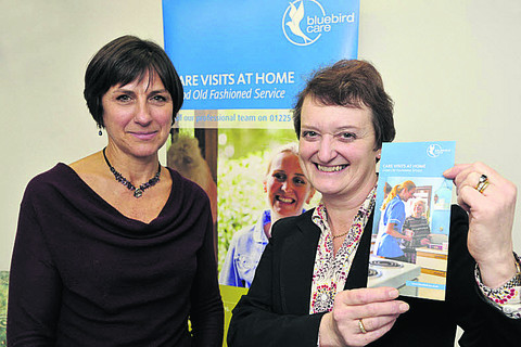 Katie Chisnall and Lesley Gough, directors of Bluebird Care based in Bradford on Avon