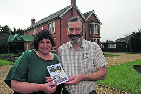 Graham and Lisa Ellis, of Well House Manor, showed their guests the delights of Melksham for the Channel Four show