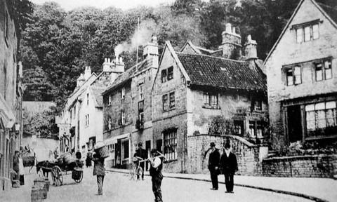 A yesteryear picture of Market Street, Bradford on Avon