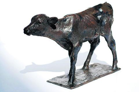 A design of the proposed calf sculpture
