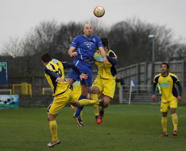 Alan Griffin in action against Gosport at Hardenhuish Park (Picture by Robin Foster)