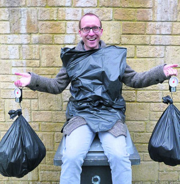 Wiltshire Times: Waste watcher Matt Powell prepares for the slim bin challenge