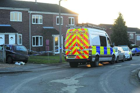 Wiltshire Times: Search teams at the murder scene
