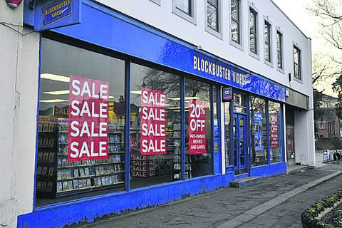 The Blockbuster store in Trowbridge
