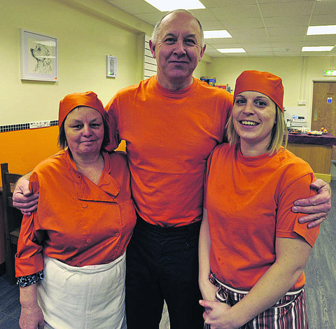 Proprietor Paul Findlay with staff Maggie Henderson and Charlotte Cole at the new cafe