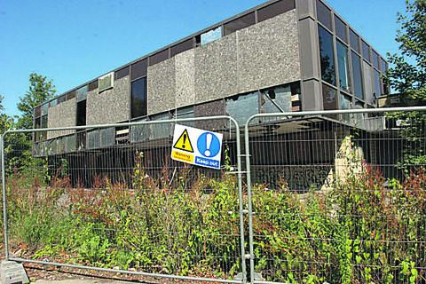 The derelict former Peter Black toiletries factory has been described as an eyesore on the Trowbridge landscape