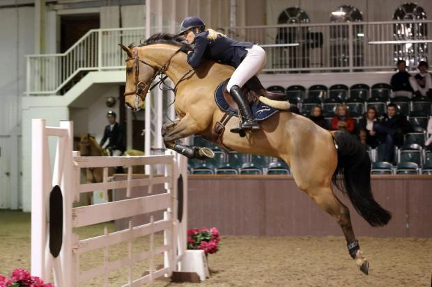 Jessica Mendoza riding Nuggets L'Amandour in the Addington Grand Prix