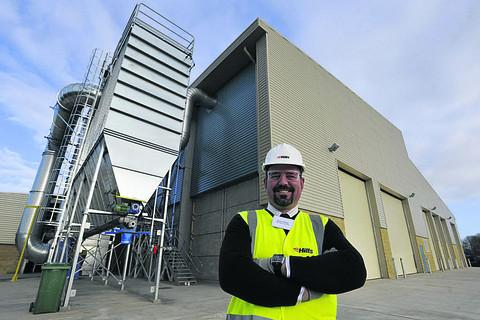 Plant manager Simon Thomas at the newly completed waste treatment centre