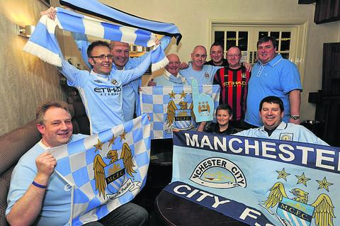 Members of the Bath and Wilts branch of the Manchester City Supporters' Club are hoping to raise £500 when they bring the Premier League Trophy home