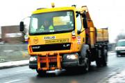 Gritting lorries are out treating roads for the first time with winter