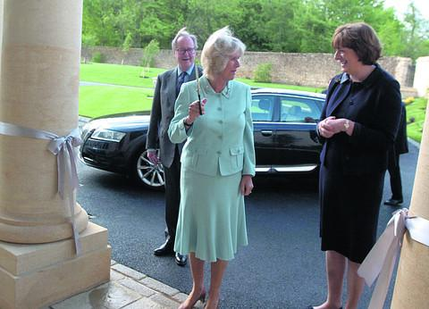 The Duchess of Cornwall opens Bowood Hotel in 2009 watched by Lord and Lady Lansdowne. The hotel, spa and golf resort won gold in the business tourism category and bronze in the large hotel category at the South West Tourism Excellence Awards