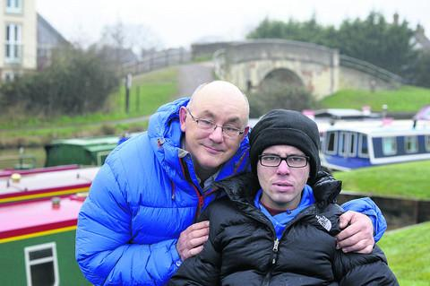 Andy Cudlip with his son Ben, 22, who suffers from Niemann-Pick disease
