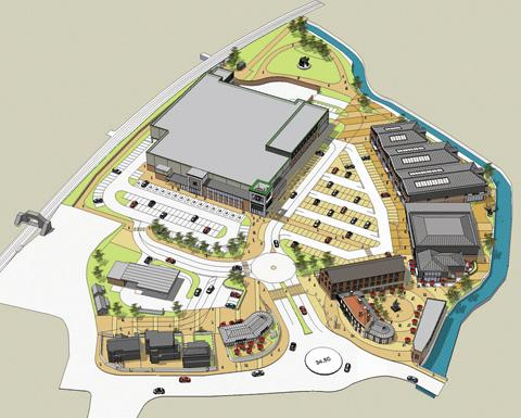 A plan of the new Morrisons site at the former Bowyers factory