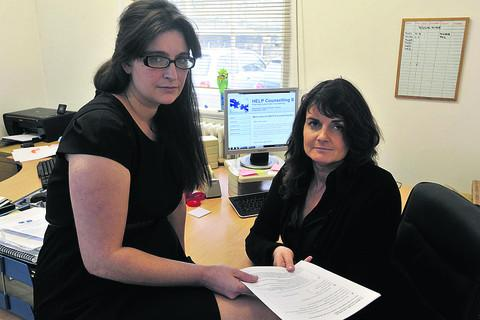 Wiltshire Times: Amanda Wilkes, left, and Eva Ashmore of HELP