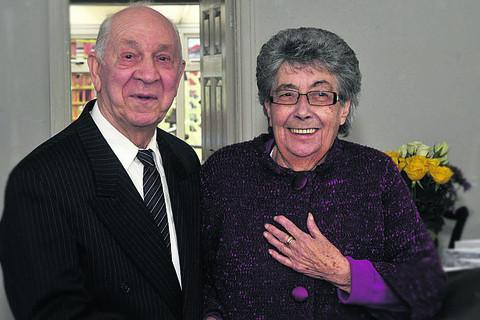 Roy and Gill Adams celebrate their diamond anniversary