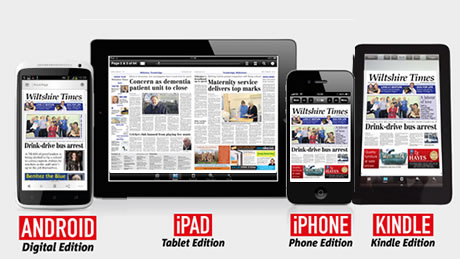 Portrait or Landscape, the WiltshireTimes App lets you read your paper whichever way you want, when you want