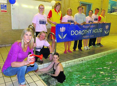 Sharron Davies and Kerena Angell, front left, at last year's memorial fundraiser