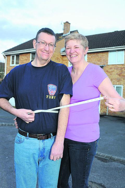 Dave and Ali Bartlett measure their slimming success