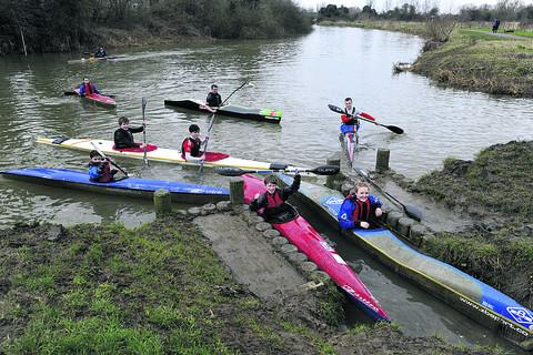 Canoe club youngsters celebrating at their revamped facility