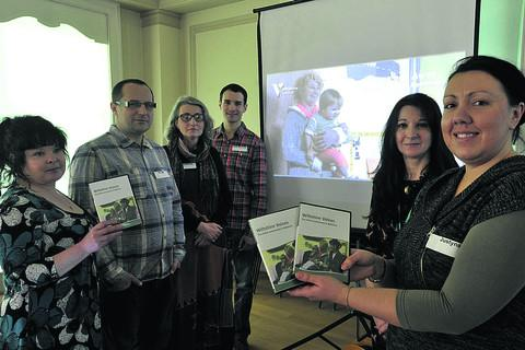 From left, project manager Rachel Efeney, Marak Kala, Ewa Kaczorek-Mahey, Rafal Maciolek, Mary Cullen and Justyna Suszek at the DVD launch