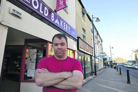 Jamie Nicholls, of The Old Bakery Coffee Shop, says he and other traders will oppose plans for a Costa Coffee in Melksham High Street