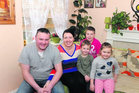 Wiltshire Times: Robert and Justyna Suszek with their children Nicolas, Kacper and Natalie