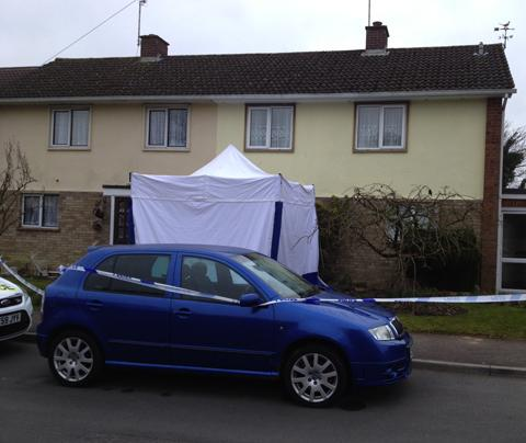 Wiltshire Times: Police at the scene of the deaths in Moonraker, Devizes