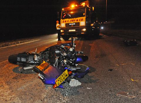 The bike involved in the crash