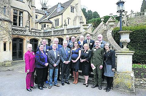 Wiltshire blood donors honoured at the ceremony last week