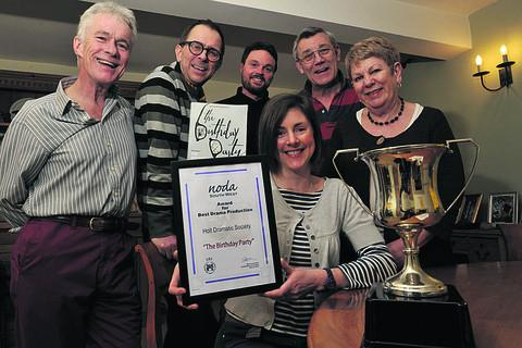 From left, John Palmer,  Al Brunkers, Marc Bessant, director Lizzy Ward, seated,  John Fletcher and Alison Brady