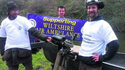 Toby Page, Iolo Lavender and Ted Powles planned to cruise from Reading to Bath in aid of Wiltshire Air Ambulance but a series of setbacks caused the challenge to be called off