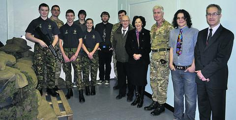 Wiltshire College students and staff meet senior officers from the Royal School of Artillery