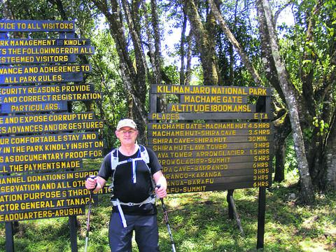 Andrew Cudlip on the Mount Kilimanjaro climb